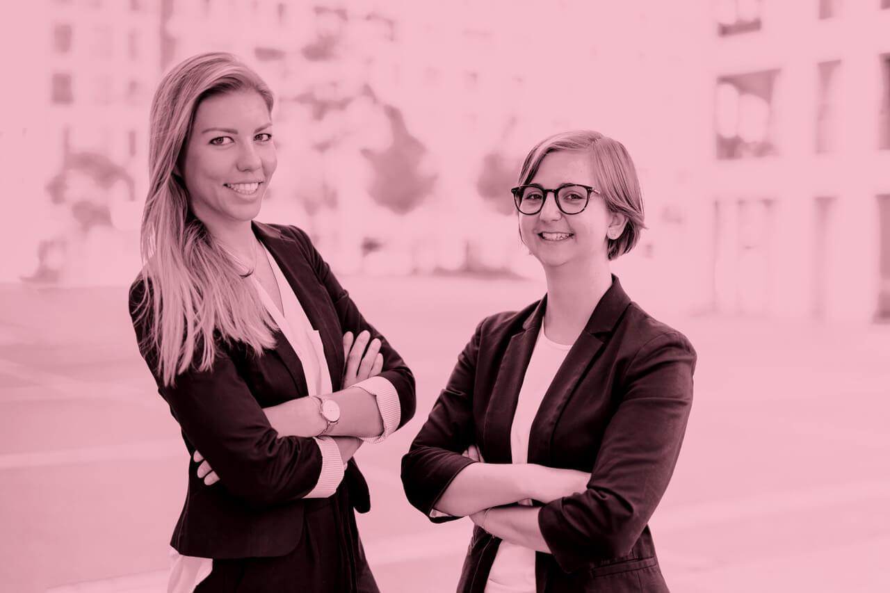 """Johanna Mayer und Vera Pichler: """"Wir möchten an einer gerechten Zukunft mitarbeiten, in der ökologische und soziale Aspekte in unserem täglichen Tun berücksichtigt werden."""""""