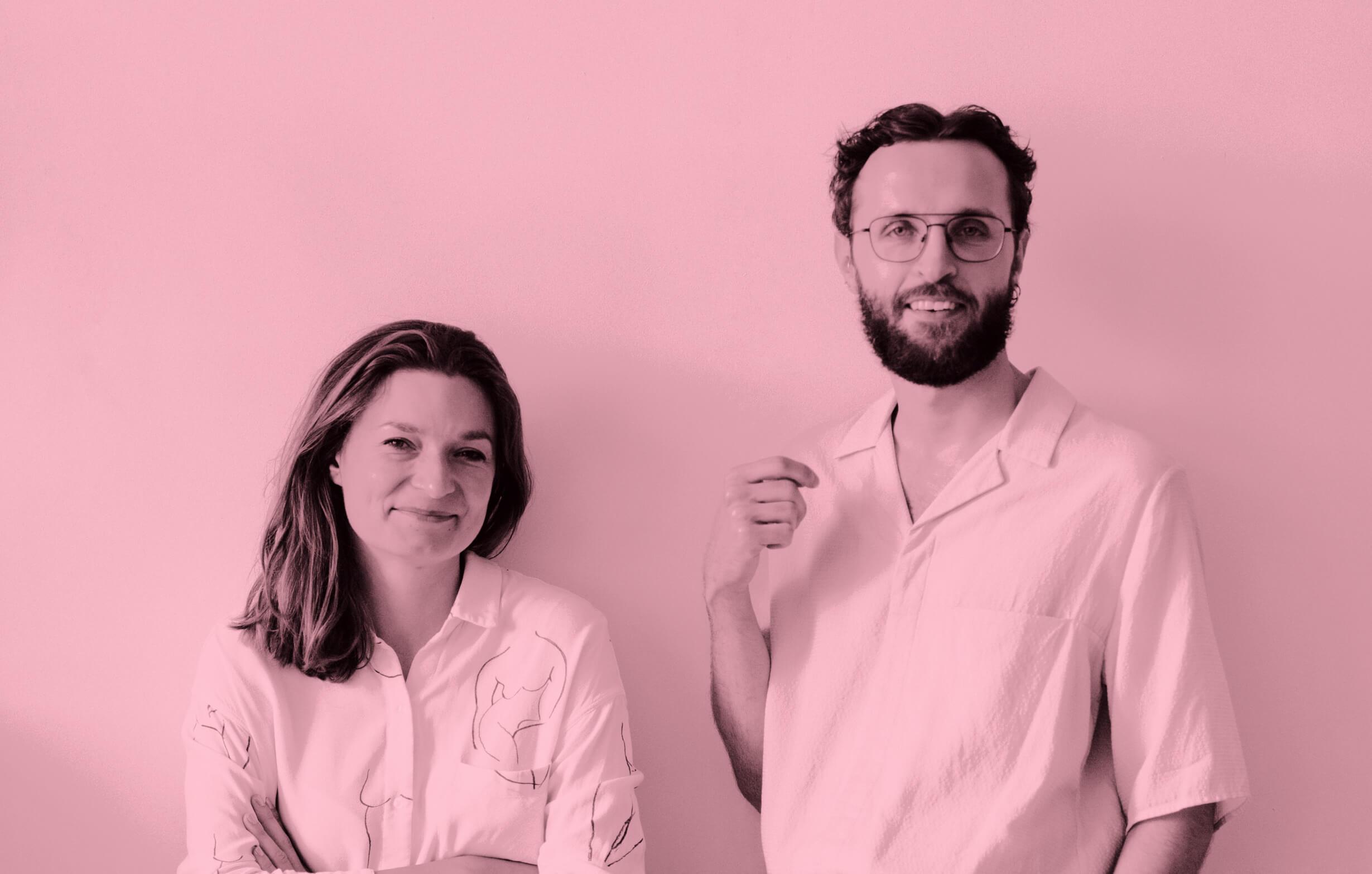 """Monika Kanokova und Max Mauracher: """"Wenn wir von Kommunikation, Gestaltung und Nachhaltigkeit reden, stecken dahinter eigentlich People, Planet and Profits."""""""