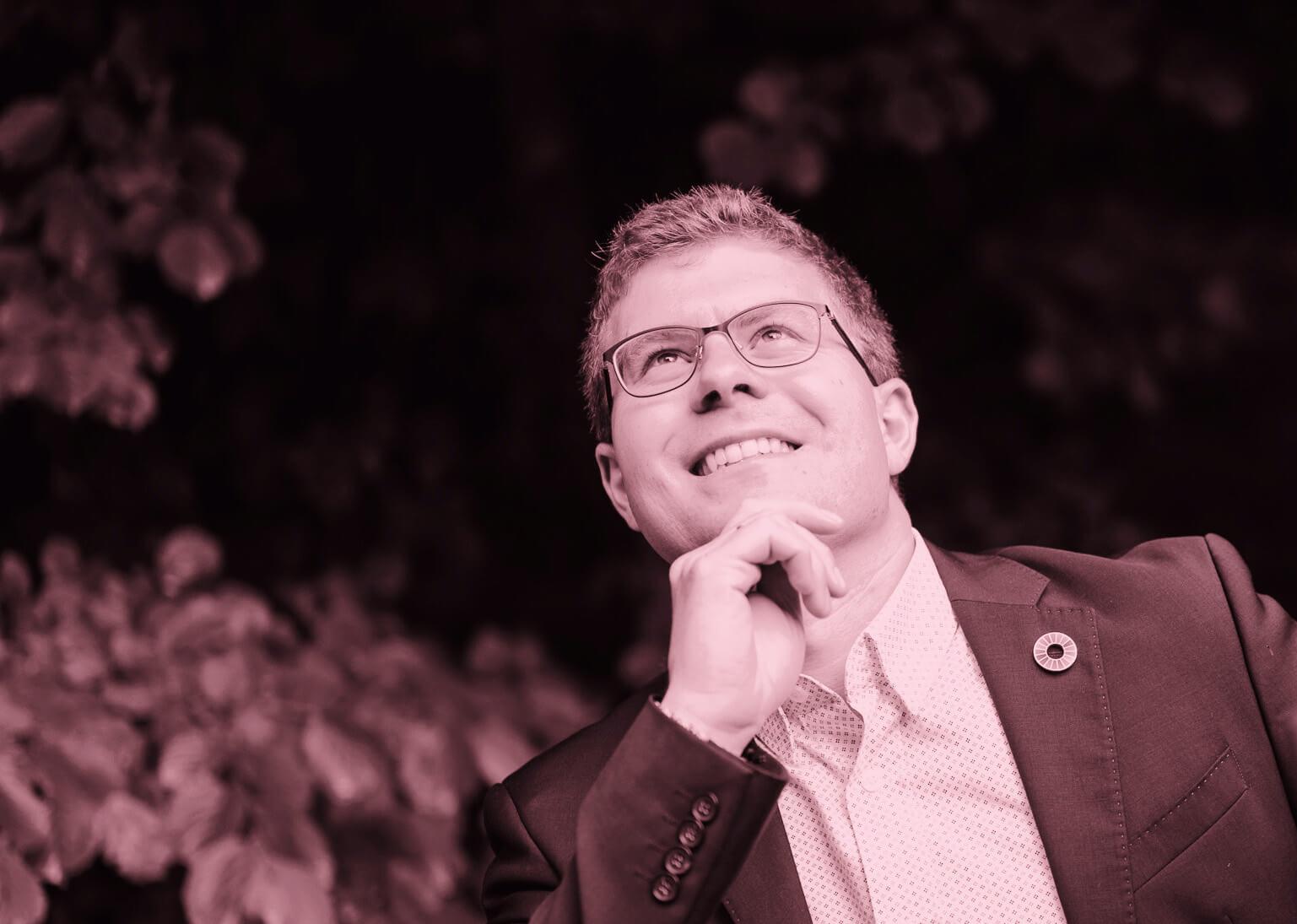 """Florian Leregger: """"Ich sehe Nachhaltigkeit als Chance und Lösung! Dafür bedarf es Verantwortung, Wissen, Innovation und Kooperation."""""""